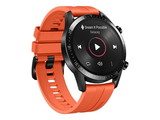 Huawei Watch GT 2 Bluetooth 5.1 LE EDR 46 mm Plastik Rustfrit stål - Sort
